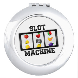 Slot Machine Tilted Icon Compact Mirror