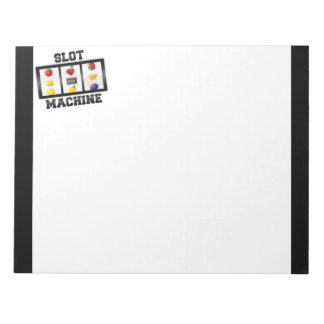 Slot Machine Tilted Icon Notepad