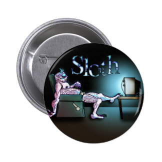 Sloth Pinback Buttons