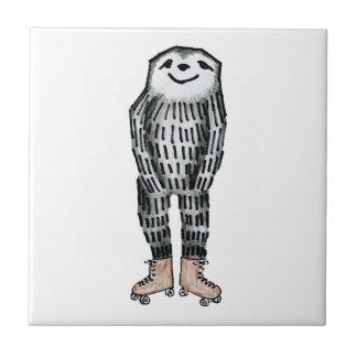 Sloth on Roller Skates Tile