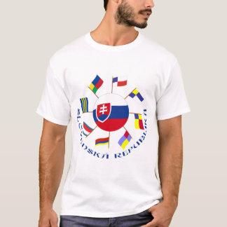 Slovak Flags Pinwheel T-Shirt