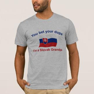 Slovak Grandpa Bet your Dupa T-Shirt
