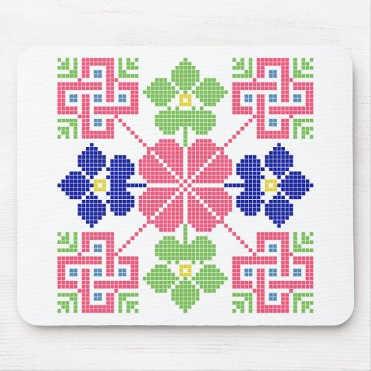 slovakia folk motif symbol traditional ethnic geom mouse pad