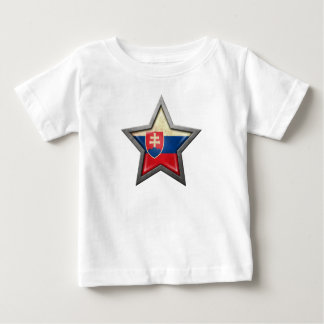 Slovakian Flag Star Baby T-Shirt