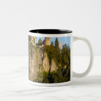 Slovenia, Bled, Lake Bled, Bled Castle on Two-Tone Coffee Mug