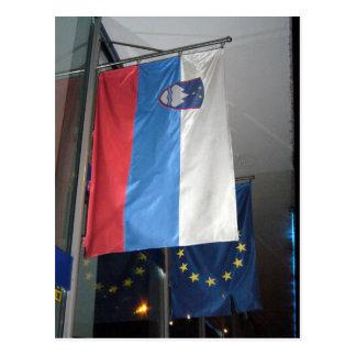 slovenia eu flag postcard