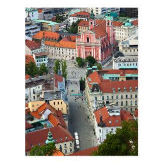 Slovenia - Ljubljana - Sky View Postcard