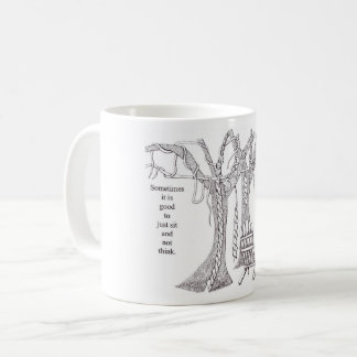 Slow down and relax coffee mug