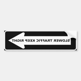 Slow Traffic Keep Right Arrow Bumper Sticker