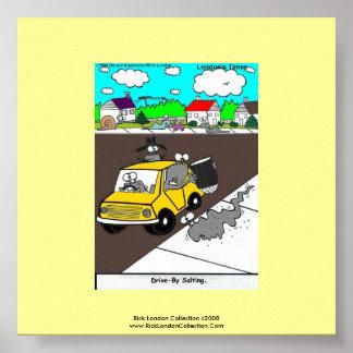 Slug/Snail Cartoon Quality Poster Print Poster