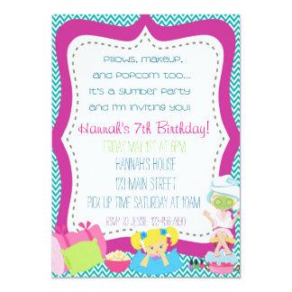 Slumber Party Invitaiton 13 Cm X 18 Cm Invitation Card