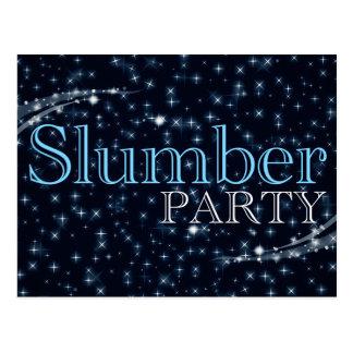 slumber party invitations : starshine postcard