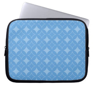 Sly blue shippo pattern laptop computer sleeve