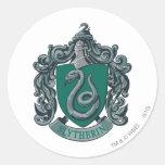 Slytherin Crest Green Classic Round Sticker