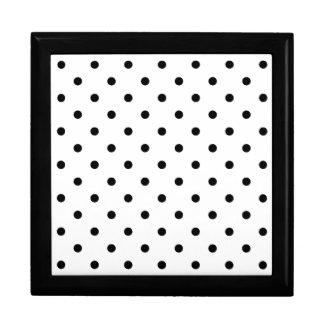 Small Black Polka dots white background Gift Box