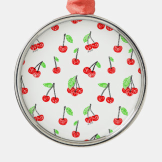 Small cherries Silver-Colored round decoration