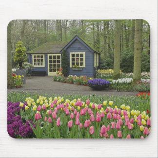 Small cottage flower shop, Keukenhof Gardens, Mouse Pad