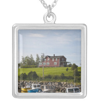 Small fishing village near Grande-Riviere, Silver Plated Necklace