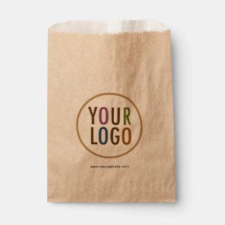Small Flat Kraft Brown Paper Bags with Custom Logo