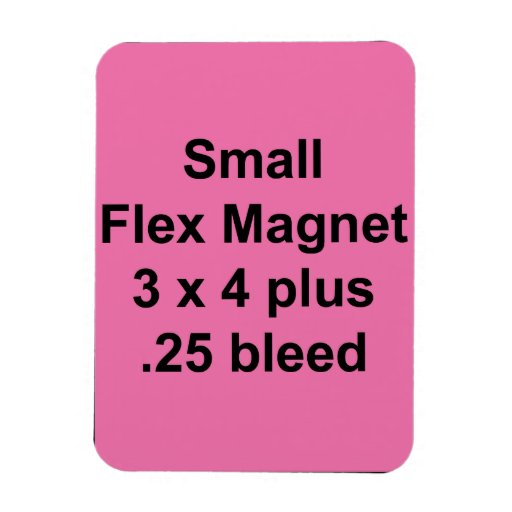 Small Flexible Magnet Template Vertical Fill