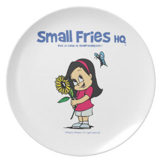 Small Fries HQ Becky Melamine Plate
