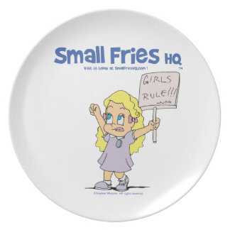 Small Fries HQ Ophelia Melamine Plate