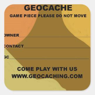 small geocache id's square sticker
