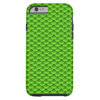 Small Green Fish Scale Pattern Tough iPhone 6 Case