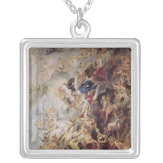 Small' Last Judgement, c.1620 Silver Plated Necklace