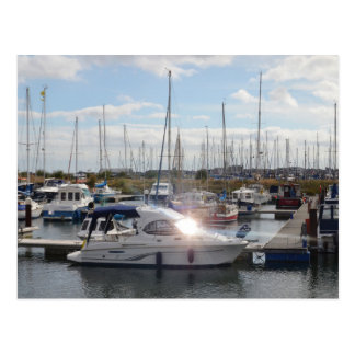 Small Motorboat Catching The Sun Postcard