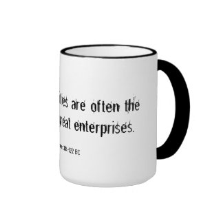 Small opportunities inspirational quote ringer mug