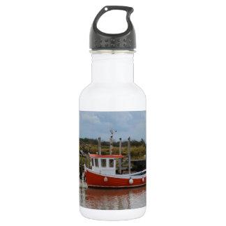 Small Orange Fishing Boat 532 Ml Water Bottle