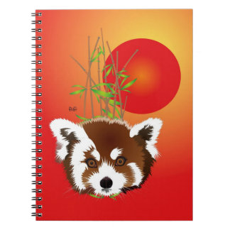 Small panda (Ailurus fulgens) note booklet Notebook