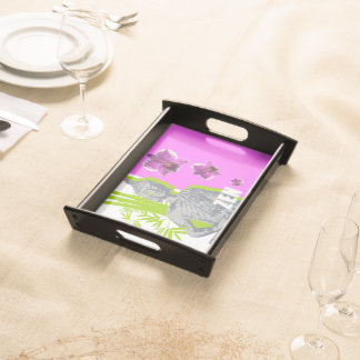 Small Plates of service, Black ZEN Serving Tray