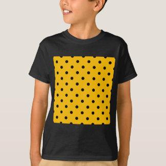Small Polka Dots - Black on Amber T-Shirt
