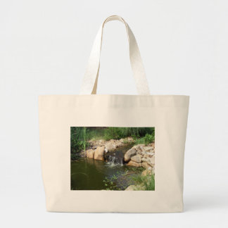 Small Pond and Waterfall Beach Bag