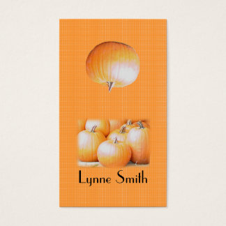 Small Pumpkins Bookmark - add your own magnet Business Card