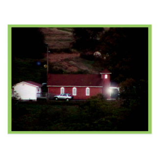 Small Red Country Church Postcards