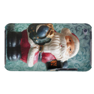 Small Santa Claus figure Barely There iPod Cases