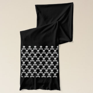 Small Skulls Pattern on a  Long Cotton Scarf
