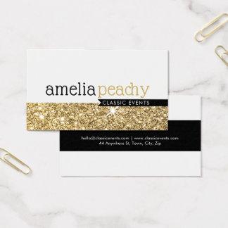 SMART BUSINESS CARD classy glamourous gold glitter