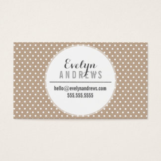 SMART SIMPLE SPOT mini polka dot eco kraft white Business Card