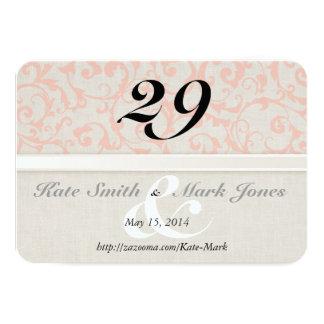 SmartElegance Coral Table Number Card
