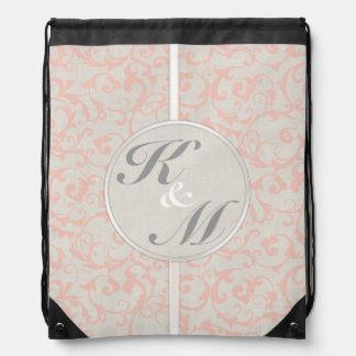 SmartElegance Coral Wedding Collection Drawstring Bag