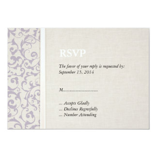 SmartElegance lavender Wedding Collection Card