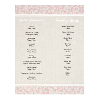 SmartElegance Pink Wedding Collection 21.5 Cm X 28 Cm Flyer