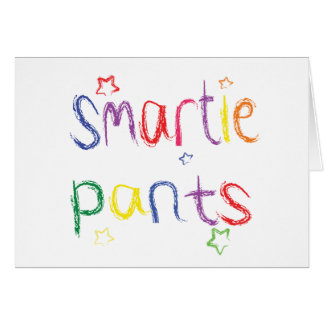 Smartie Pants fun congratulations Card