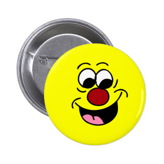 Smarty Pants Smiley Face Grumpey 6 Cm Round Badge