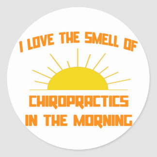 Smell of Chiropractics in the Morning Sticker
