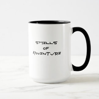 smells of adventure mug